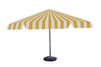 Parasol biało żółty