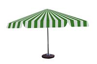 Parasol 8kąt biało zielony