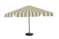 parasol 8kąt bialo bezowy