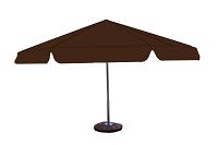 parasol 8kąt brazowy