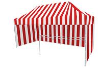 Namiot ekspresowy biało czerwony