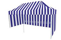 Namiot ekspresowy biało niebieski