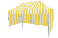Namiot ekspresowy bialo żółty
