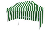 Namiot bialo zielony