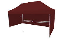 Namiot ekspresowy bordowy