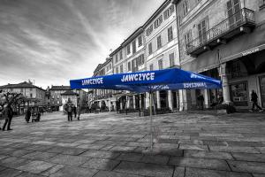 Niebieski parasol z nadrukiem 24